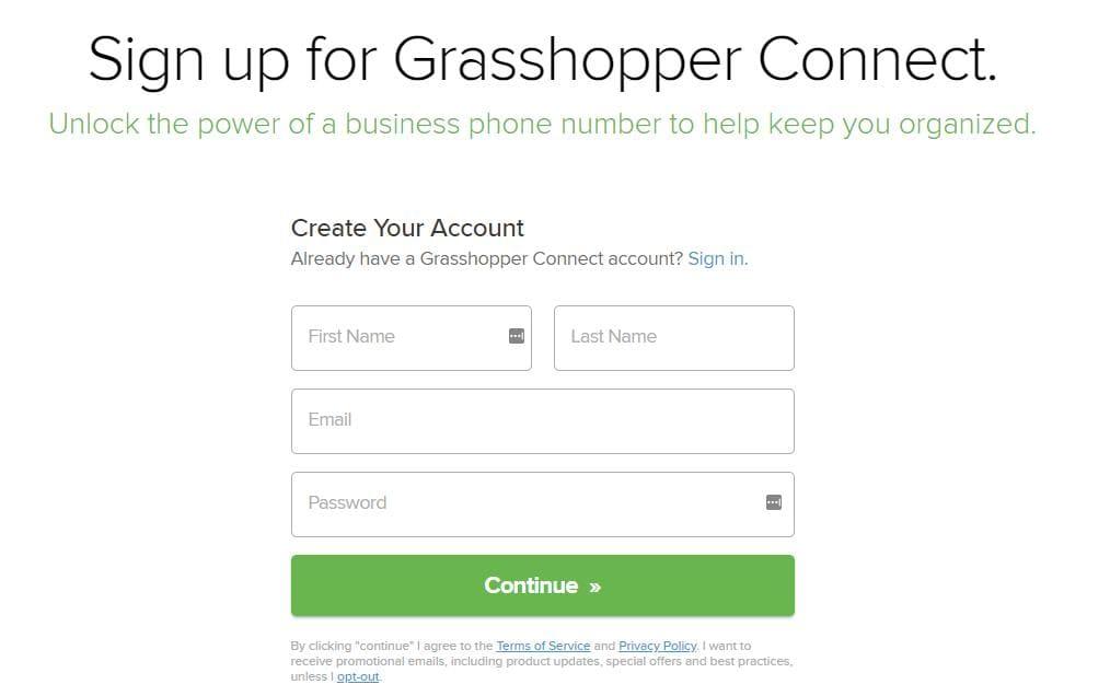 signin Grasshopper